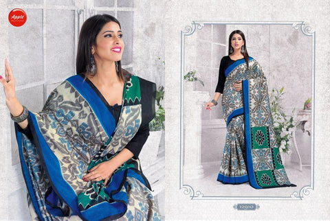OffWhite and Grey Color ArtSilk Saree - 12WOM12910