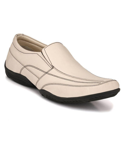 White Color Leather Men's Formal Shoes - 133_WHITE