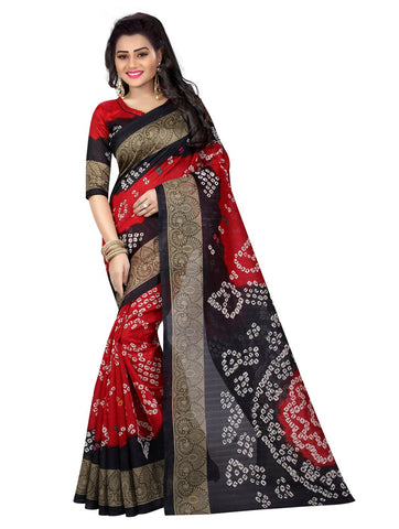 Multi Color Bhagalpuri Silk Women's Saree - 138EKA01