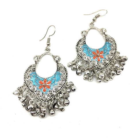 Orange and Blue Color Alloy Light Weight Earring - 1403NE02-o