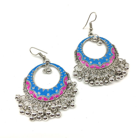 LightBlue and Pink Color Alloy Light Weight Earring - 1403NE03-b