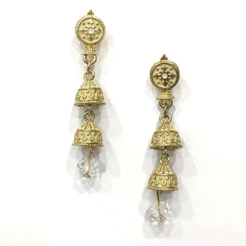 Beige Color Alloy HandCrafted Earring - 1403NE10-cr