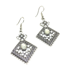 Buy White Color Alloy HandCrafted Earring