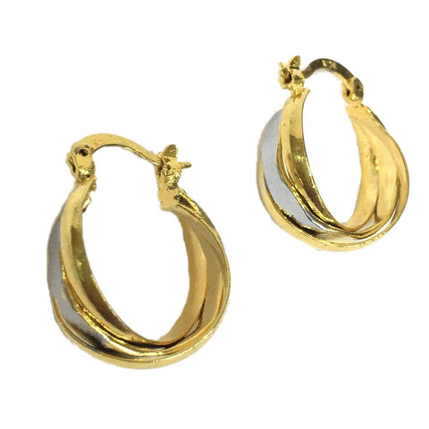 Gold and Sliver Color Alloy HandCrafted Earring - 1403NE14