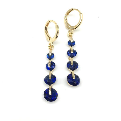 Blue Color Alloy Light Weight Earring - 1403NE17-b