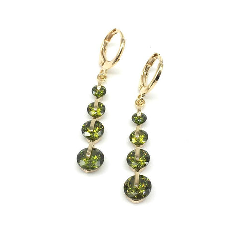 Green Color Alloy Light Weight Earring - 1403NE17-g