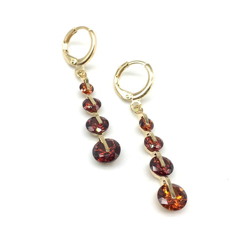 Gold Color Alloy Light Weight Earring - 1403NE17-r