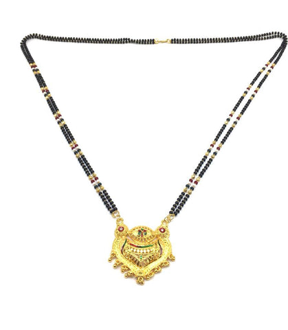 Gold  and  Black Color Special Alloy Mangalsutra  - 1407N122