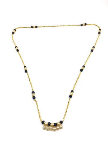 Gold  and  Black Color Special Alloy Mangalsutra  - 1407N124