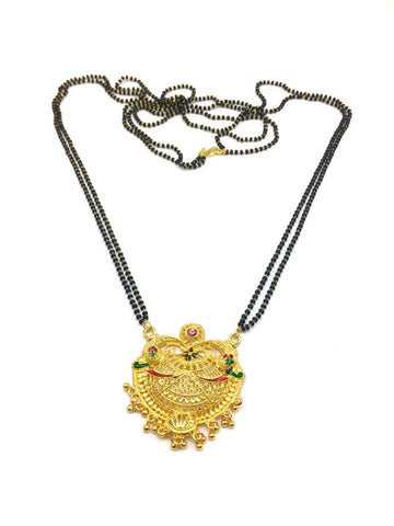 Gold  and  Black Color Special Alloy Mangalsutra  - 1407N125