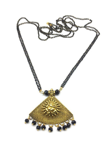 Gold  and  Black Color Special Alloy Mangalsutra  - 1407N126