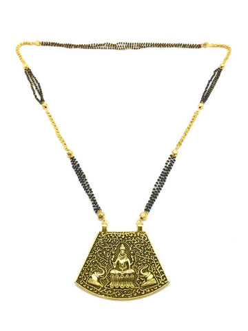 Gold  and  Black Color Special Alloy Mangalsutra  - 1407N127
