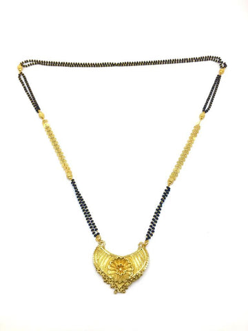 Gold  and  Black Color Special Alloy Mangalsutra  - 1407N129