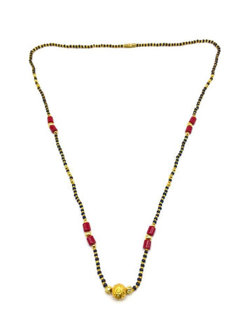 Gold  and  Black Color Special Alloy Mangalsutra  - 1407N132