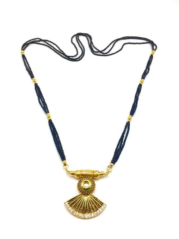 Gold  and  Black Color Special Alloy Mangalsutra  - 1407N133