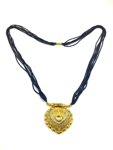 Gold  and  Black Color Special Alloy Mangalsutra  - 1407N134