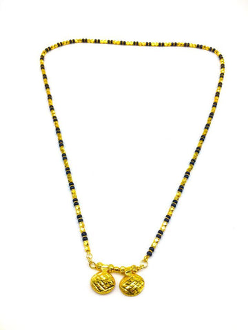 Gold  and  Black Color Special Alloy Mangalsutra  - 1407N135