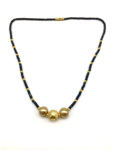 Gold  and  Black Color Special Alloy Mangalsutra  - 1407N137