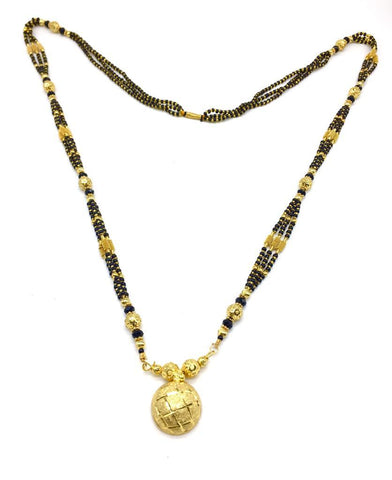Gold  and  Black Color Special Alloy Mangalsutra  - 1407N146