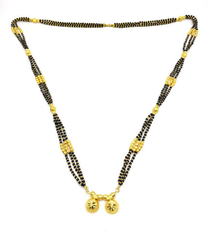 Gold  and  Black Color Special Alloy Mangalsutra  - 1407N147