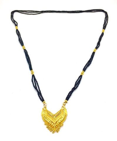 Gold  and  Black Color Special Alloy Mangalsutra  - 1407N149