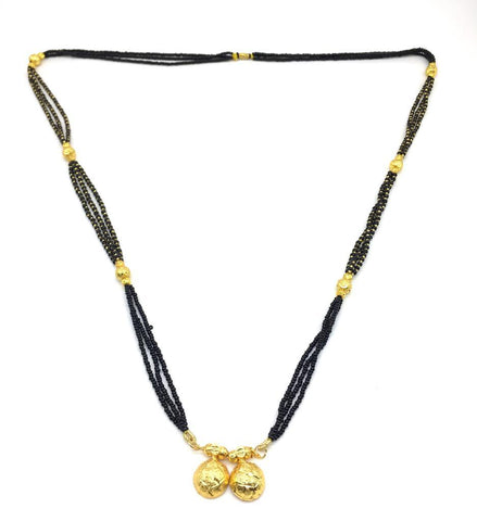 Gold  and  Black Color Special Alloy Mangalsutra  - 1407N150