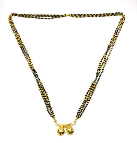 Gold  and  Black Color Special Alloy Mangalsutra  - 1407N151
