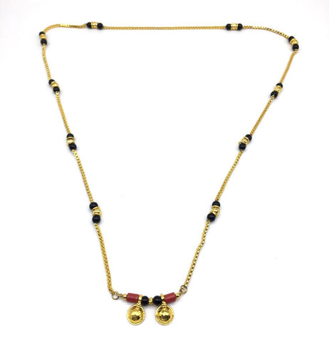 Gold  and  Black Color Special Alloy Mangalsutra  - 1407N152