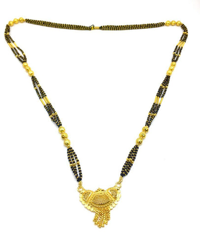 Gold  and  Black Color Special Alloy Mangalsutra  - 1407N153