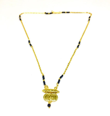 Gold  and  Black Color Special Alloy Mangalsutra  - 1407N158