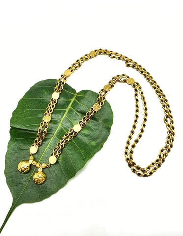 Gold and Black Color Special Alloy Women's Mangalsutra - 1407N190