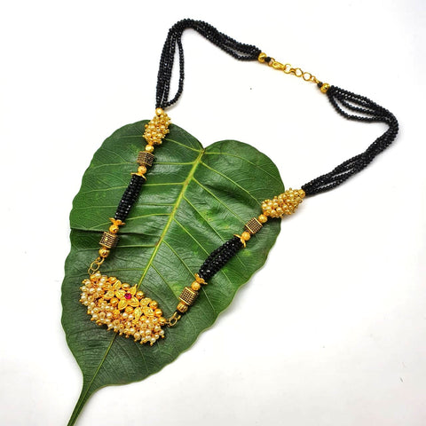 Gold and Black Color Special Alloy Women's Mangalsutra - 1407N194