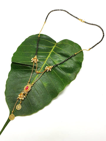 Gold and Black Color Special Alloy Women's Mangalsutra - 1407N205