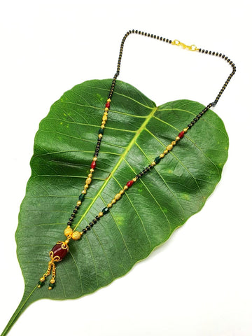 Gold and Black Color Special Alloy Women's Mangalsutra - 1407N209