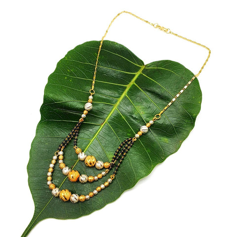 Gold and Black Color Special Alloy Women's Necklace - 1407N214