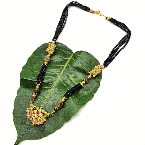 Gold and Black Color Special Alloy Women's Mangalsutra - 1407N220