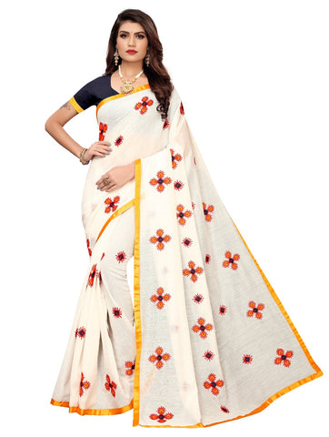 Yellow Color Chanderi Cotton Women's Saree - 148EKA04