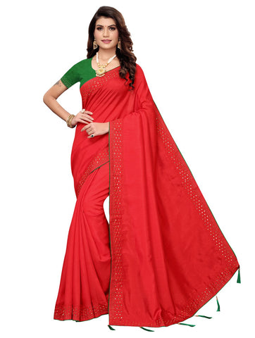 Red Color Zoya Women's Saree - 149EKA02