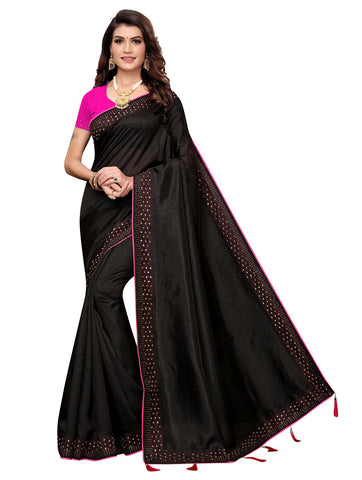 Black Color Zoya Women's Saree - 149EKA03