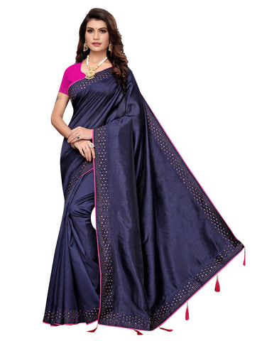 Navy Blue Color Zoya Women's Saree - 149EKA06