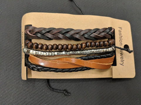 Multi Color Leather Men's Bracelet - 14MBR03