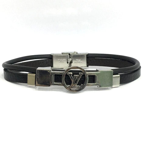 Black Color Leather Men's Bracelet - 14MBR08-LV