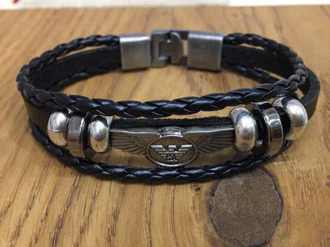 Black Color Alloy Men's Bracelet - 14MBR19