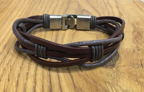 Brown Color Alloy Men's Bracelet - 14MBR20