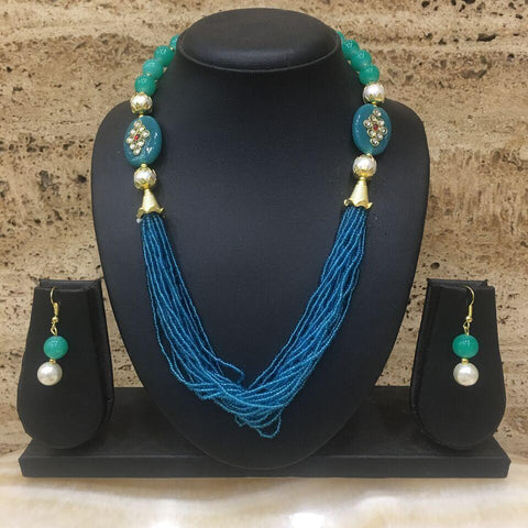 Turquoise Color Alloy Necklace - 14NS59-tu