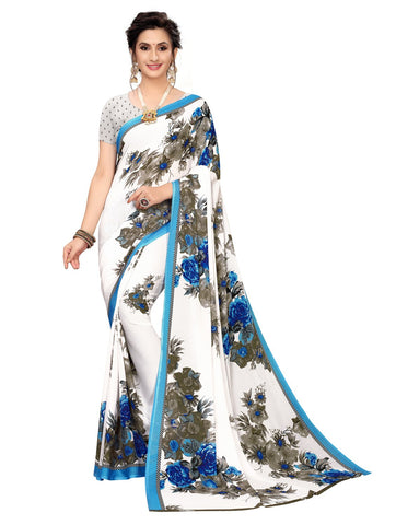 Blue Color Georgette Women's Saree - 150EKA01