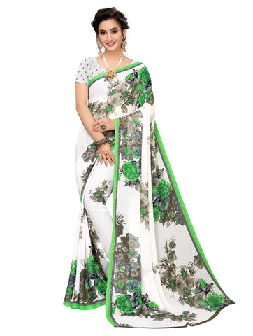 Green Color Georgette Women's Saree - 150EKA02