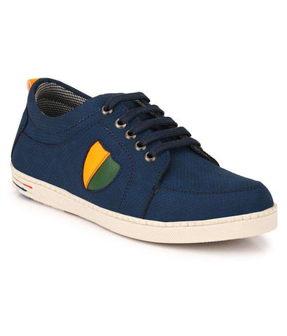 Blue Color Synthetic Men's Sneakers - 150_Blue