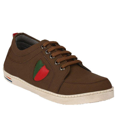 Brown Color Synthetic Men's Sneakers - 150_Brown