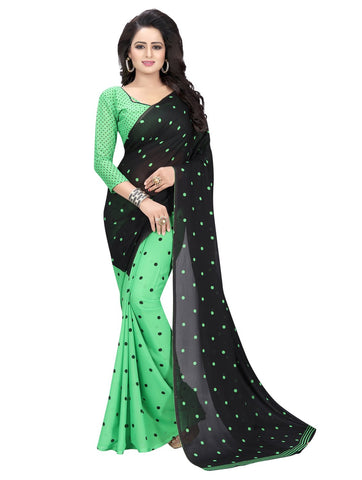 Green Color Georgette Women's Saree - 151EKA01